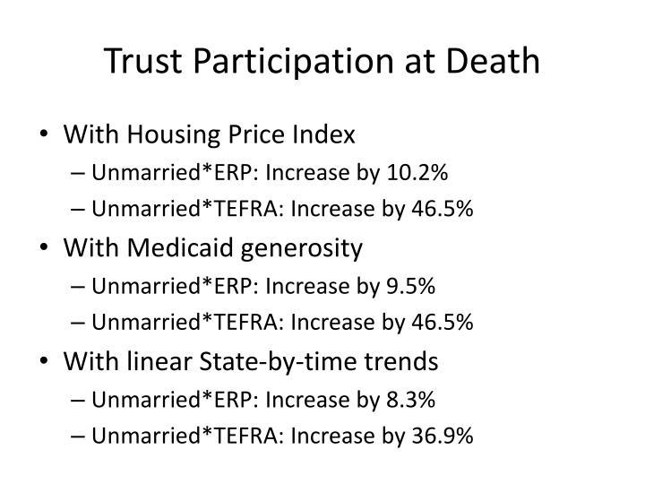 Trust Participation at Death