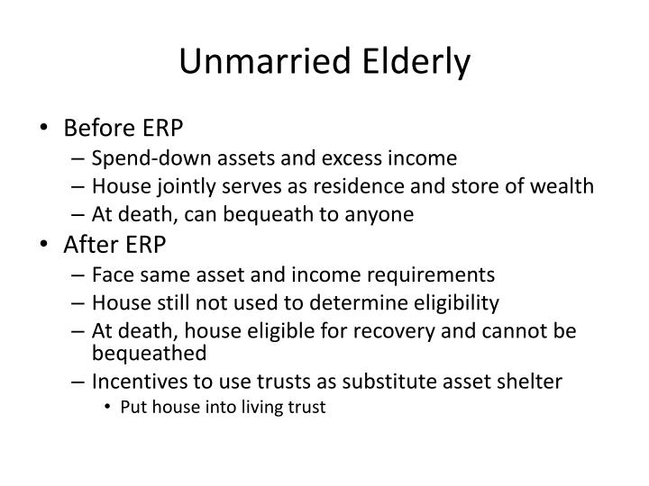 Unmarried Elderly