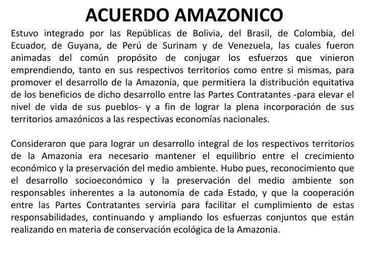 ACUERDO AMAZONICO