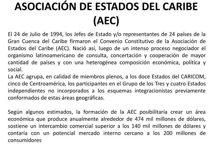 ASOCIACIÓN DE ESTADOS DEL CARIBE (