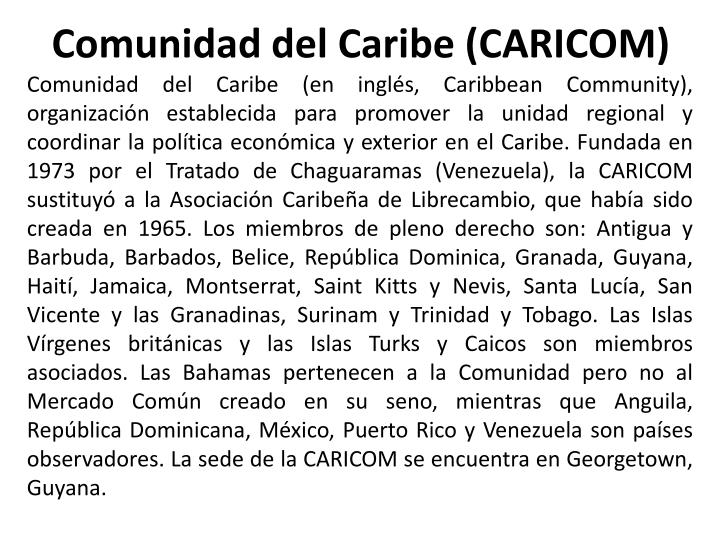 Comunidad del Caribe (CARICOM)