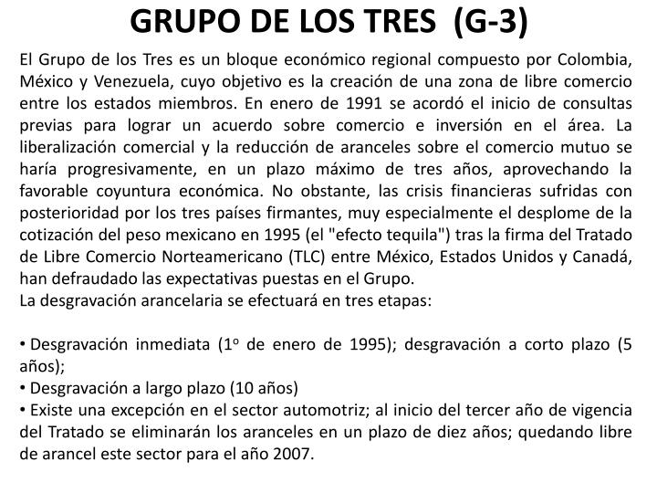 GRUPO DE LOS TRES  (