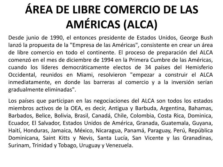ÁREA DE LIBRE COMERCIO DE LAS AMÉRICAS (