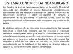 sistema economico latinoamericano
