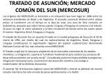 tratado de asunci n mercado com n del sur mercosur