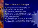 absorption and transport