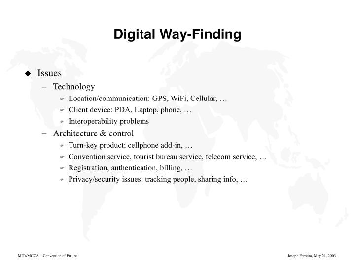 Digital Way-Finding