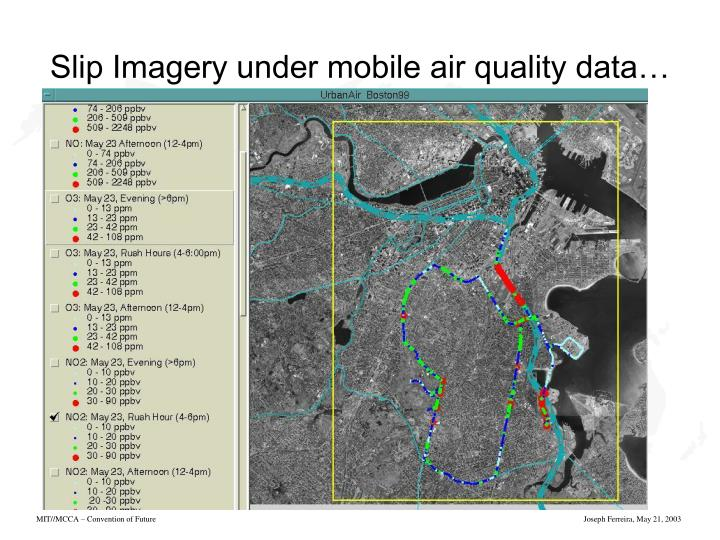 Slip Imagery under mobile air quality data…
