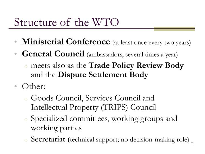 Structure of the WTO