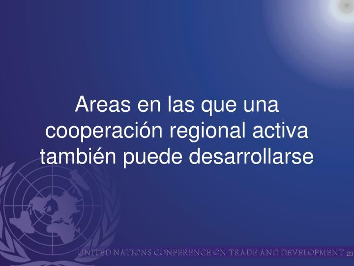 Areas en las que una cooperación regional activa también puede desarrollarse
