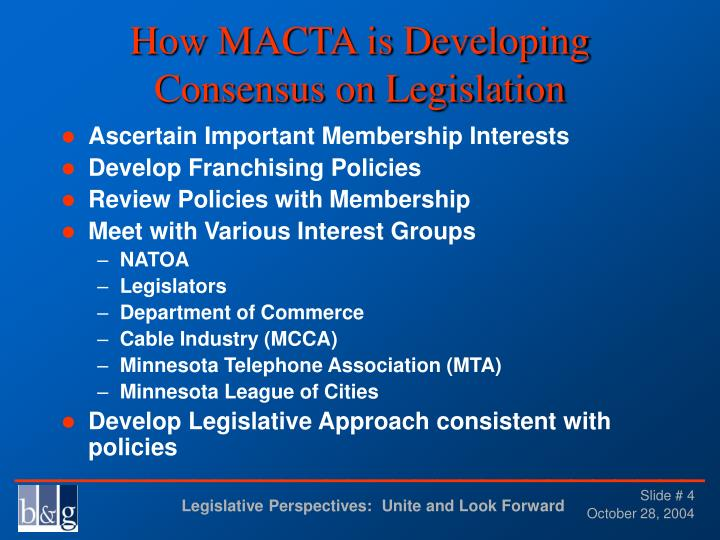 How MACTA is Developing