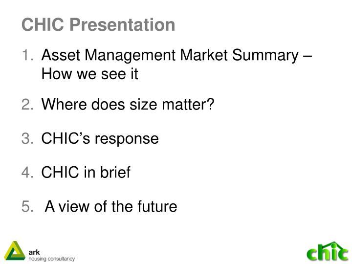 CHIC Presentation