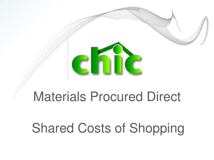 Materials Procured Direct