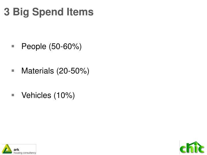 3 Big Spend Items
