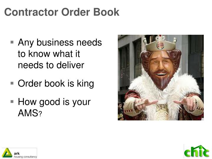 Contractor Order Book