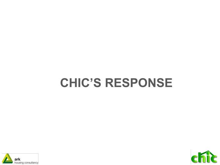 CHIC'S RESPONSE