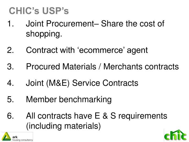 CHIC's USP's