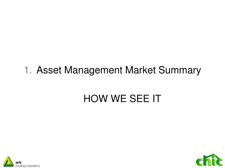 Asset Management Market Summary