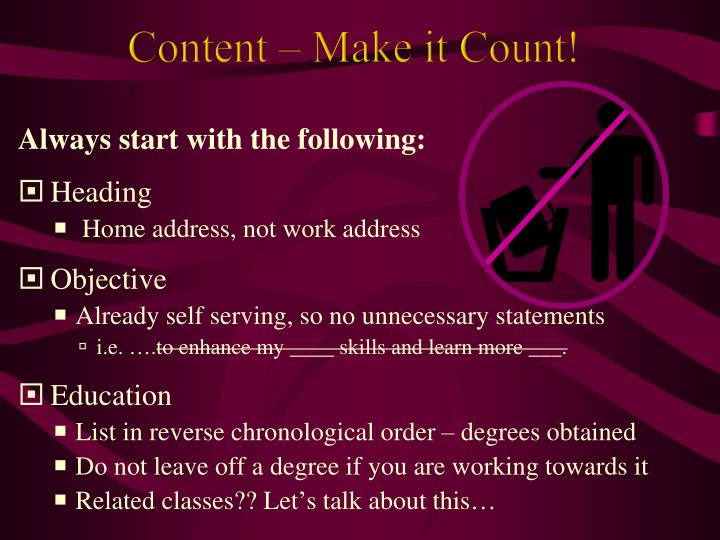 Content – Make it Count!