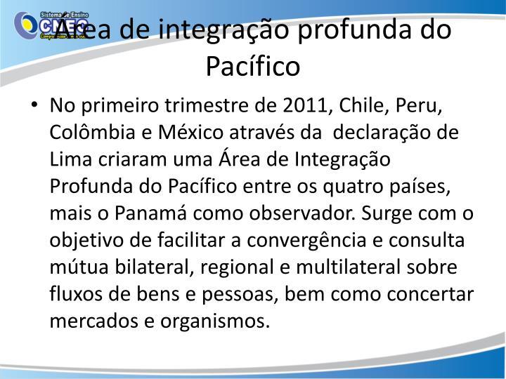 Área de integração profunda do Pacífico