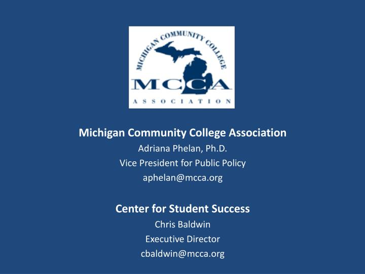 Michigan Community College Association