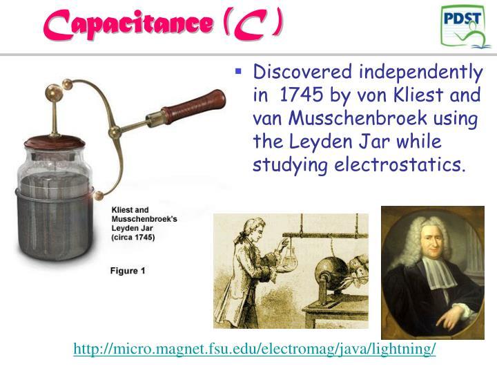 Capacitance (