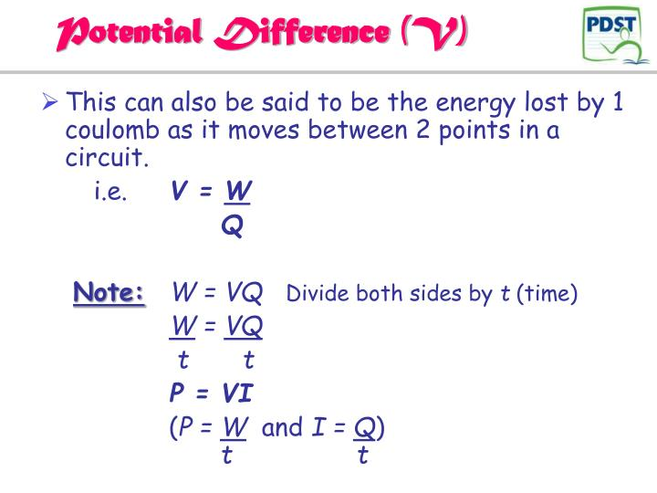 Potential Difference (V)