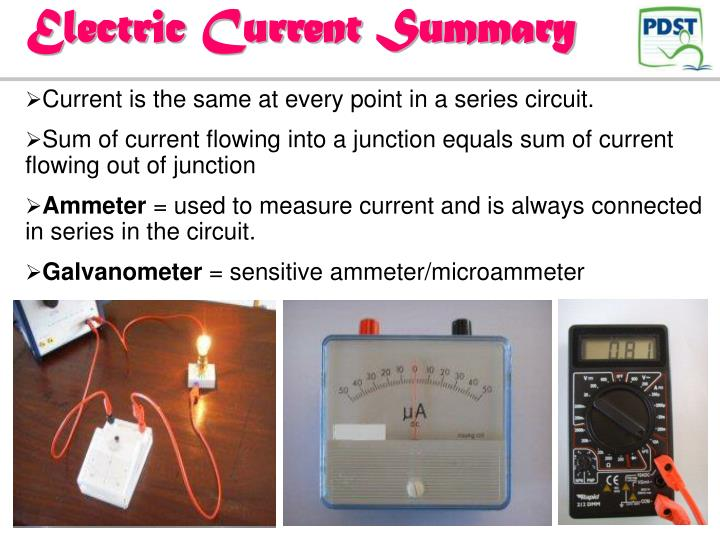 Electric Current Summary