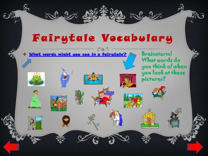 Fairytale Vocabulary