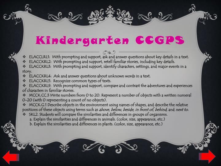 Kindergarten CCGPS