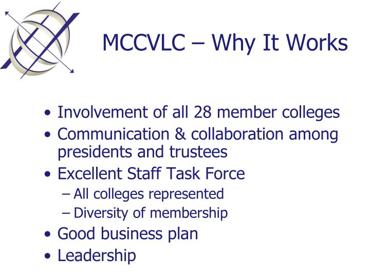MCCVLC – Why It Works