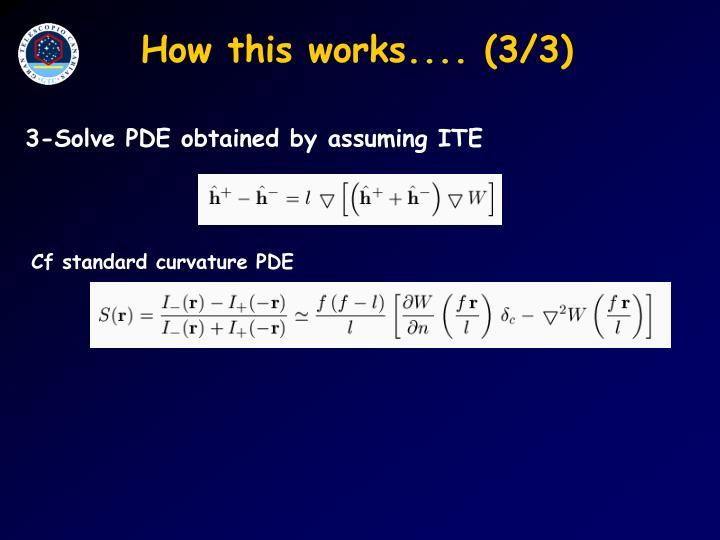Cf standard curvature PDE