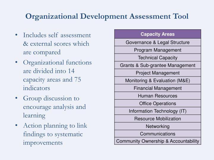 Organizational Development Assessment Tool