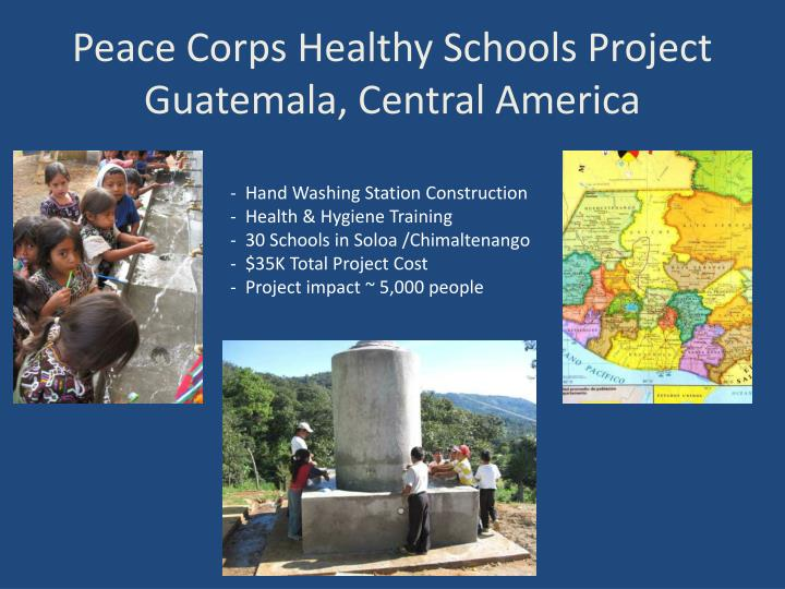 Peace Corps Healthy Schools Project