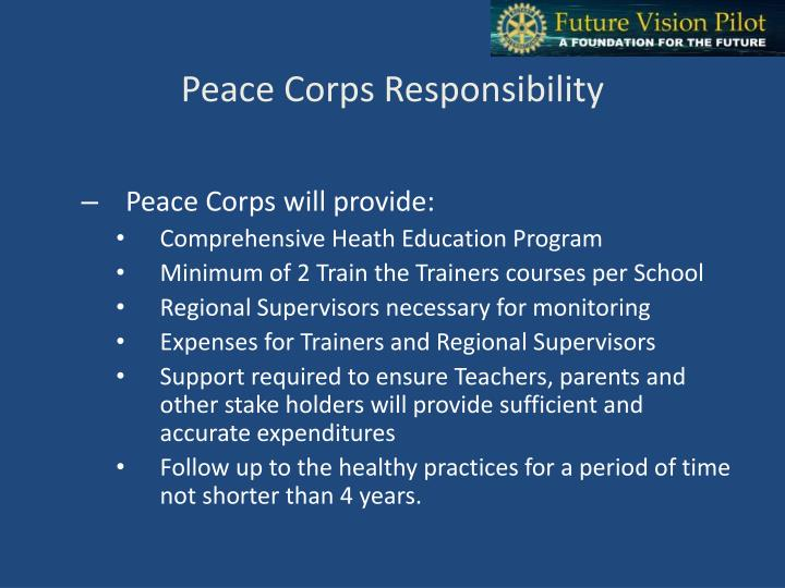 Peace Corps Responsibility