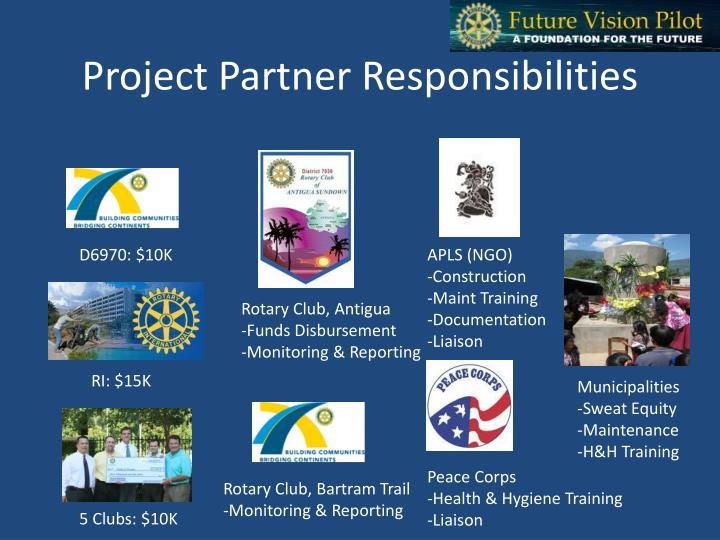 Project Partner Responsibilities