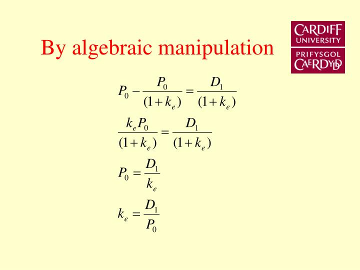 By algebraic manipulation
