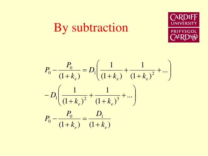By subtraction