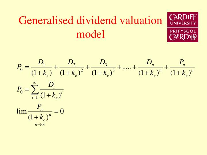 Generalised dividend valuation model