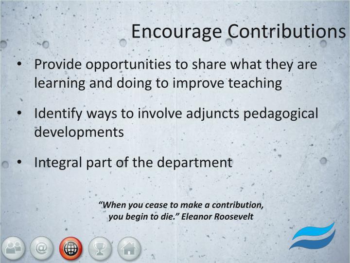 Encourage Contributions