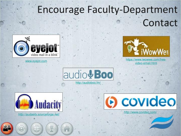 Encourage Faculty-Department Contact