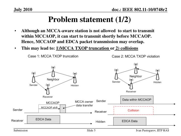 Problem statement (1/2)