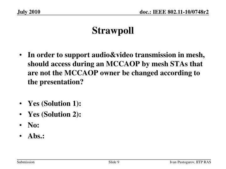 Strawpoll