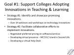 goal 1 support colleges adopting innovations in teaching learning