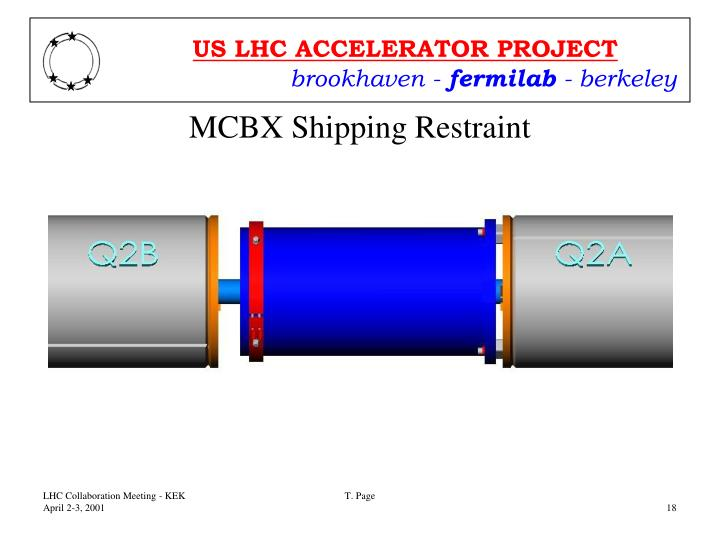MCBX Shipping Restraint