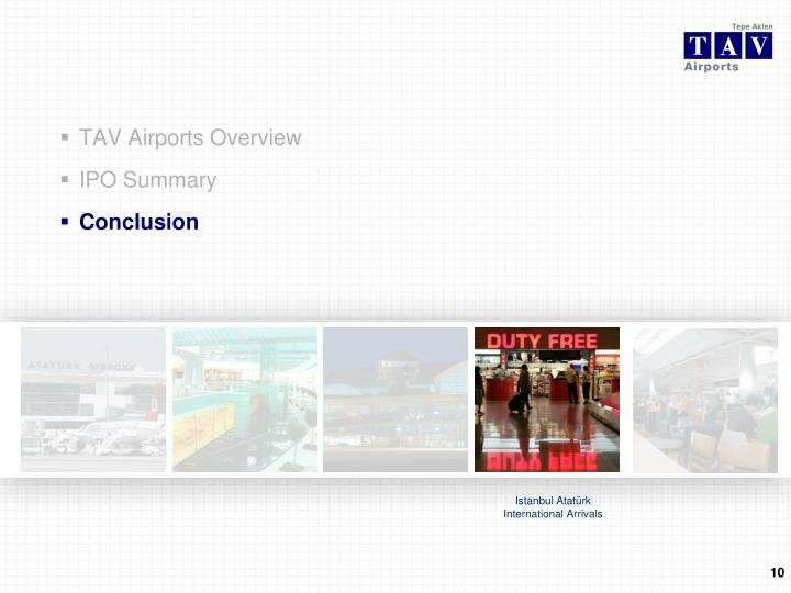 TAV Airports Overview
