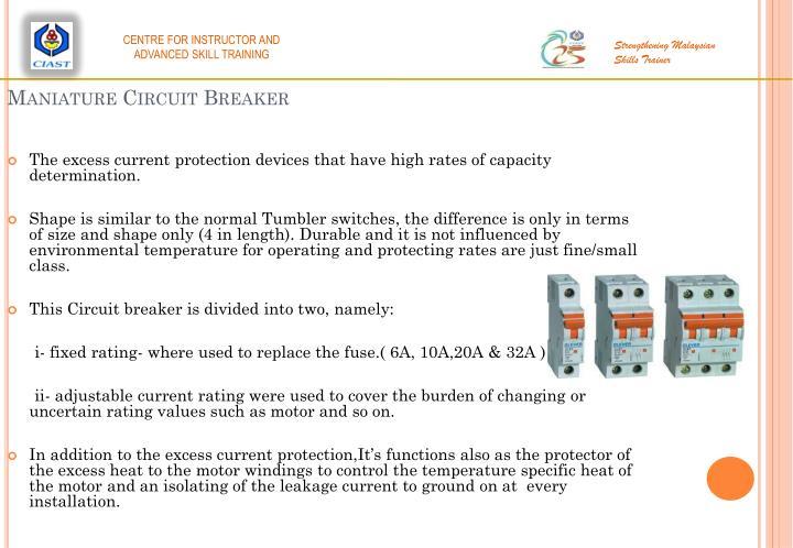 Maniature Circuit Breaker