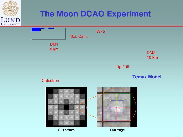 The Moon DCAO Experiment