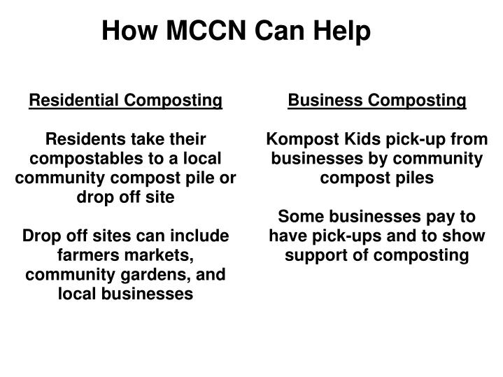 How mccn can help