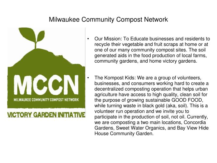 Milwaukee community compost network